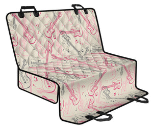 Bass Guitar Pattern Print Design 02 Rear Dog Car Seat Cover Hammock
