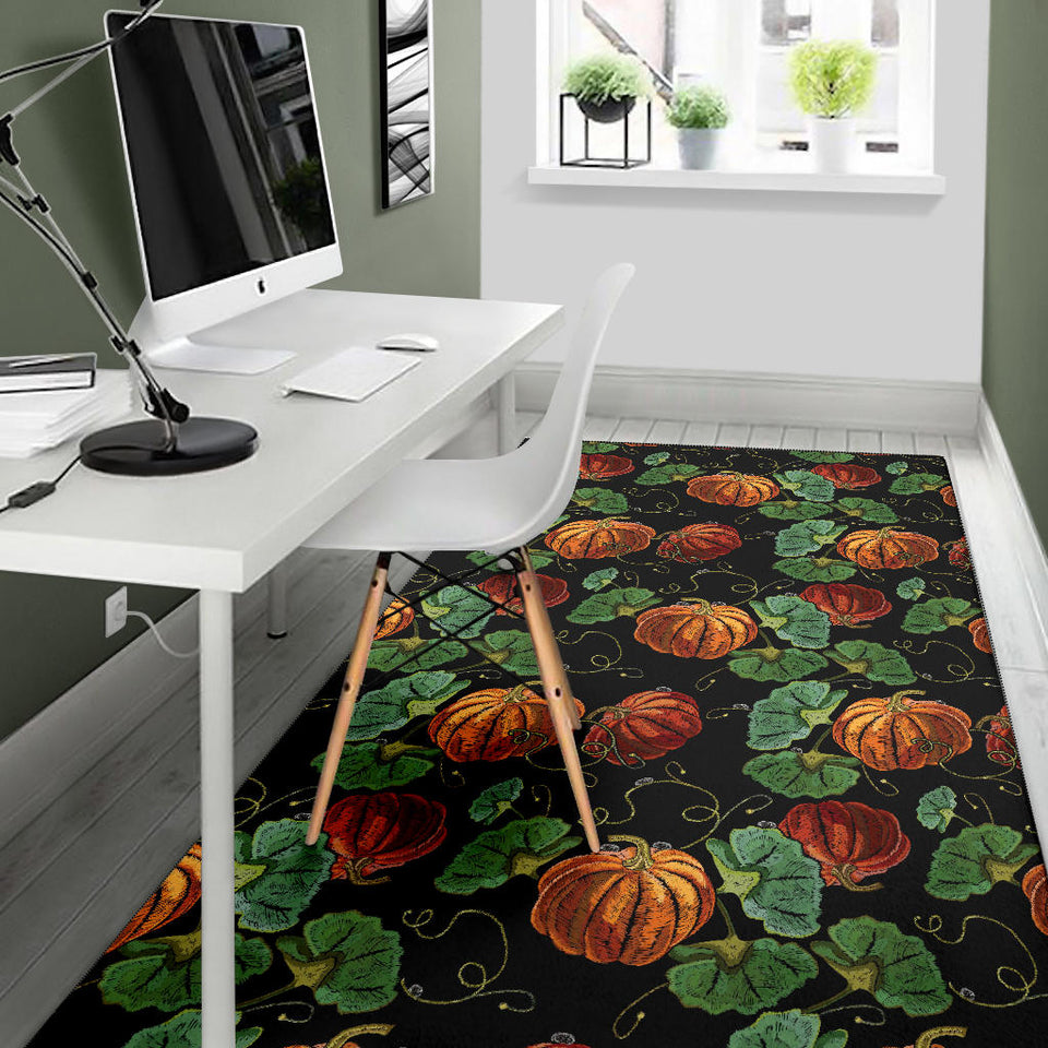 Pumpkin Pattern Print Design A02 Area Rug