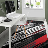 Racing Pattern Print Design A03 Area Rug