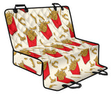 French Fried Pattern Print Design 01 Rear Dog Car Seat Cover Hammock