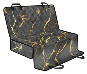 Marble Pattern Print Design 02 Rear Dog Car Seat Cover Hammock
