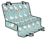 Goose Pattern Print Design 02 Rear Dog Car Seat Cover Hammock