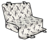 Mountain bike Pattern Print Design 01 Rear Dog Car Seat Cover Hammock