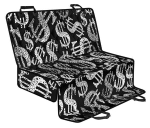 Money Pattern Print Design 02 Rear Dog Car Seat Cover Hammock