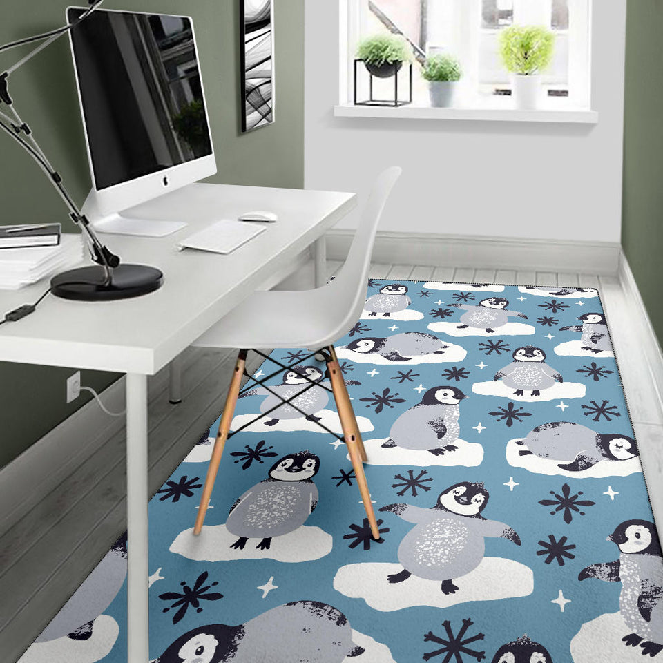 Penguin Pattern Print Design A05 Area Rug