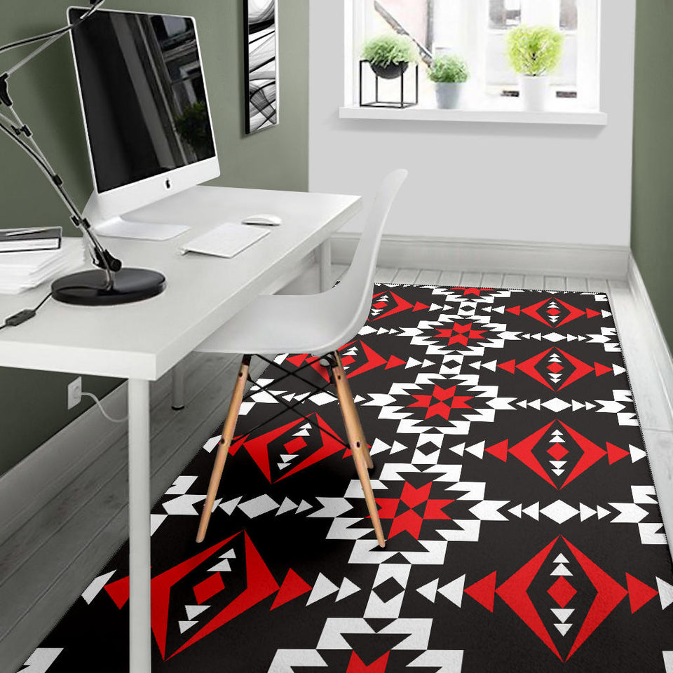Navajo Pattern Print Design A02 Area Rug