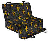 Fleur De Lis Gold Pattern Print Design 01 Rear Dog Car Seat Cover Hammock