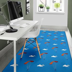 Skydiving Pattern Print Design 02 Area Rug