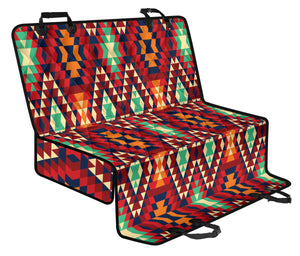 Native Pattern Print Design A07 Rear Dog Car Seat Cover Hammock