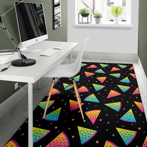 Rainbow Watermelon Pattern Print Design A04 Area Rug