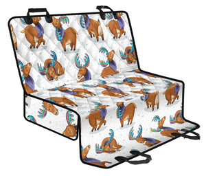 Moose Cute Pattern Print Design 01 Rear Dog Car Seat Cover Hammock