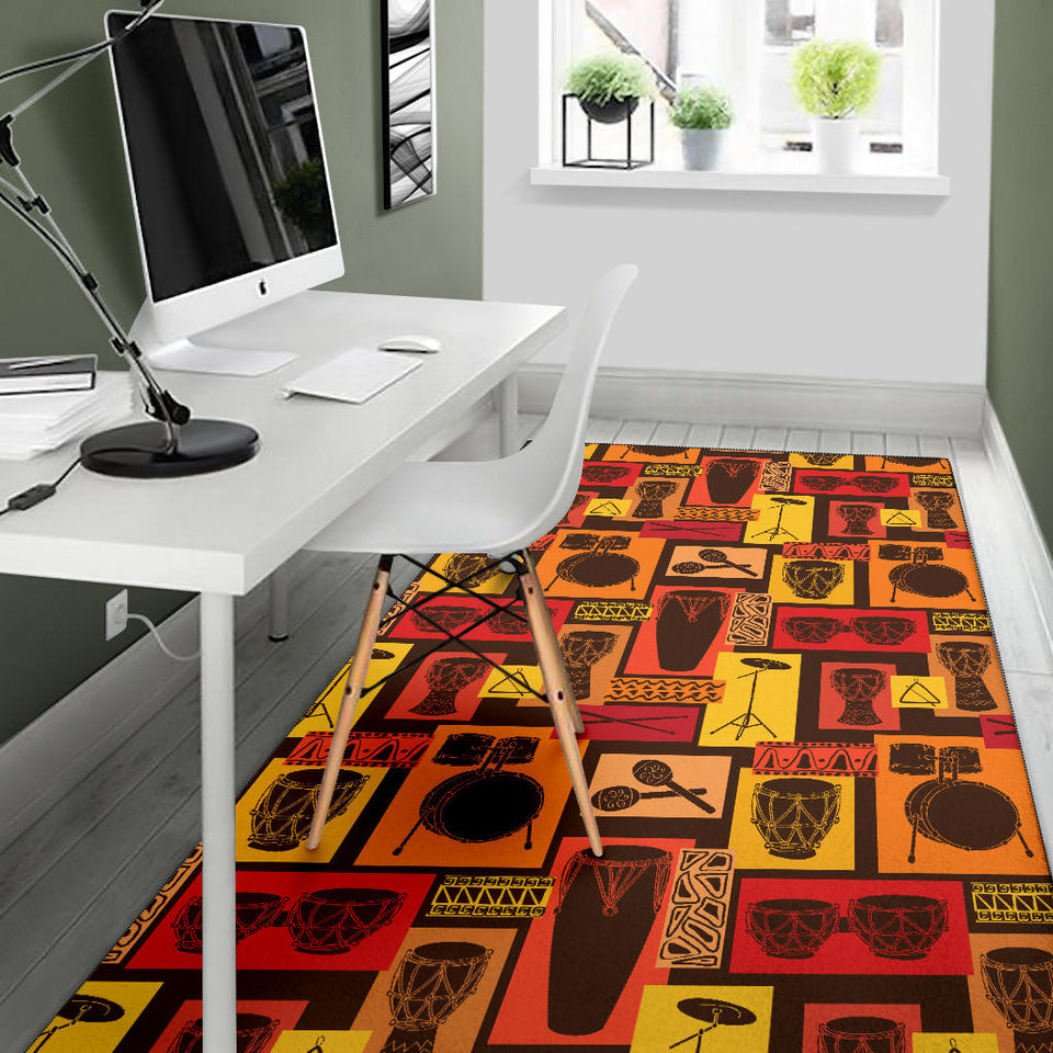 Percussion Pattern Print Design 02 Area Rug