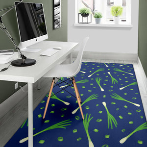 Leek Pattern Print Design 02 Area Rug