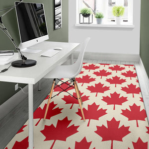 Maple Leaf Pattern Print Design 03 Area Rug