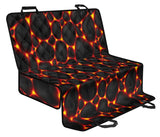 Lava Pattern Print Design 01 Rear Dog Car Seat Cover Hammock