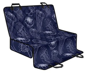 Jellyfish Pattern Print Design 05 Rear Dog Car Seat Cover Hammock