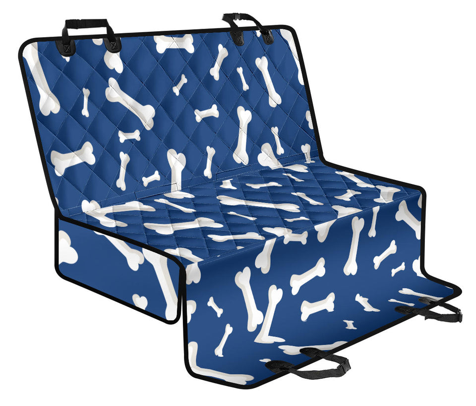 Dog Bone Pattern Print Design 03 Rear Dog Car Seat Cover Hammock