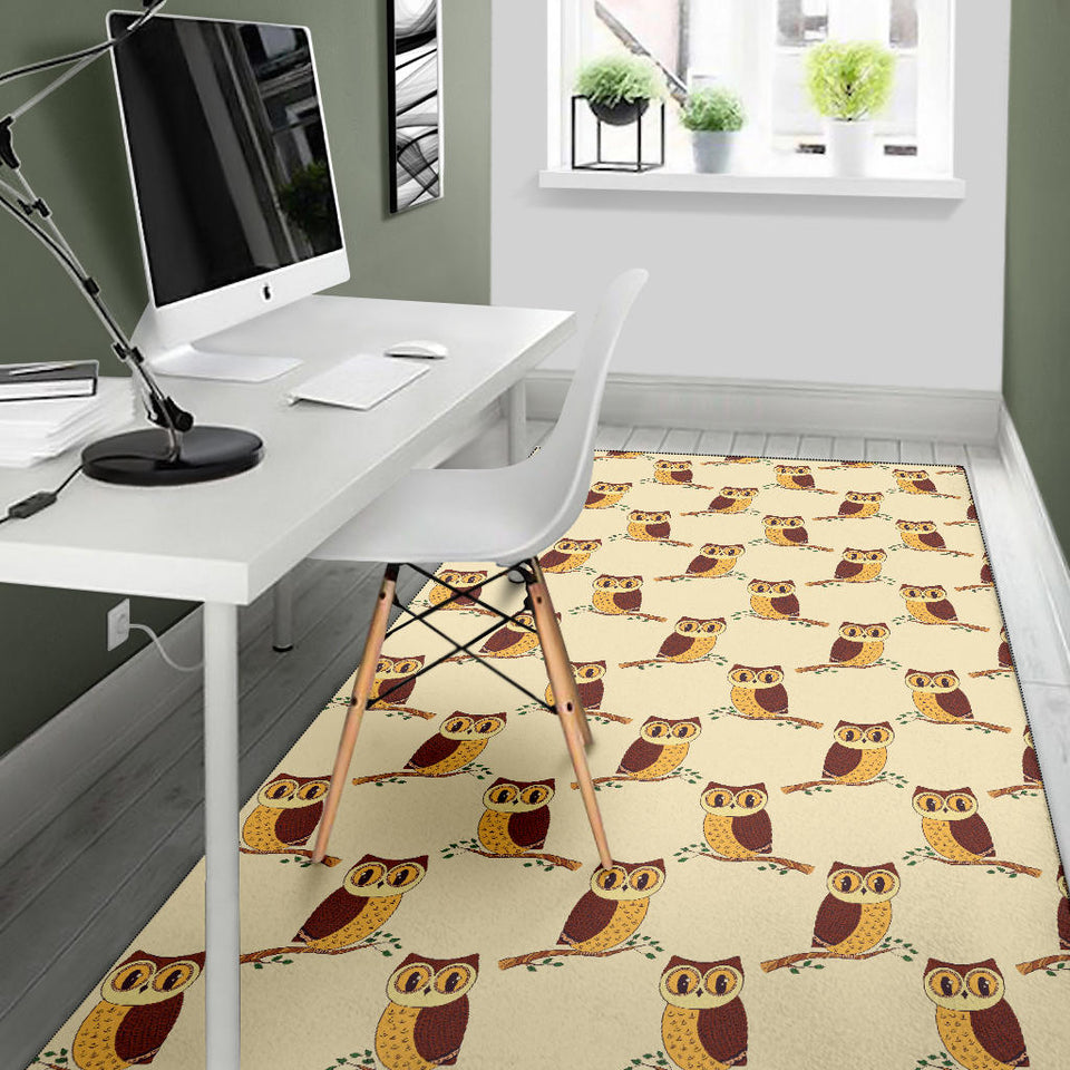 Owl Pattern Print Design A07 Area Rug