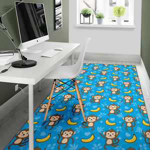 Monkey Pattern Print Design 05 Area Rug