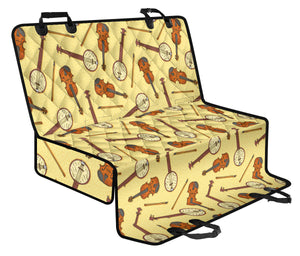 Banjo Violin Pattern Print Design 01 Rear Dog Car Seat Cover Hammock
