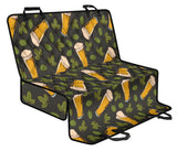 Beer Iris Pattern Print Design 02 Rear Dog Car Seat Cover Hammock