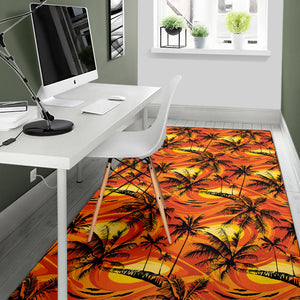 Palm Tree Pattern Print Design A02 Area Rug