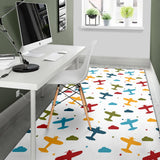 Airplane Pattern Print Design 06 Area Rug