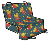 French Fried Pattern Print Design 04 Rear Dog Car Seat Cover Hammock