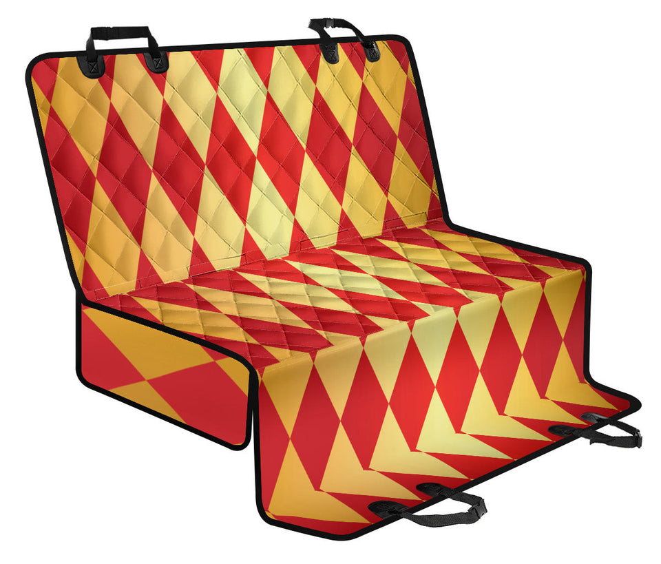 Harlequin Pattern Print Design 03 Rear Dog Car Seat Cover Hammock