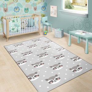 Raccoon Pattern Print Design A04 Area Rug