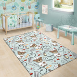 Nurse Bear Pattern Print Design A01 Area Rug