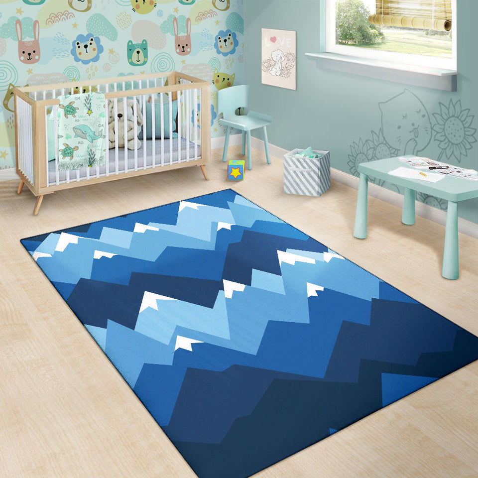 Mountain Pattern Print Design 04 Area Rug