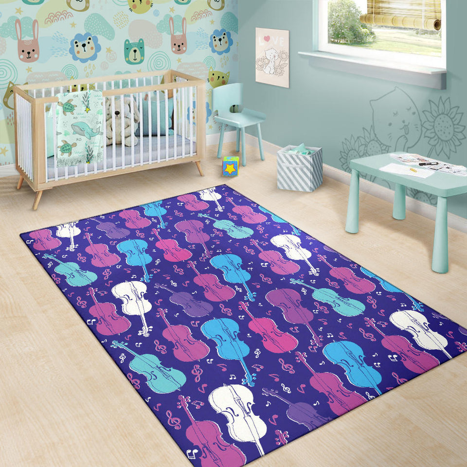 Cello Pattern Print Design 01 Area Rug