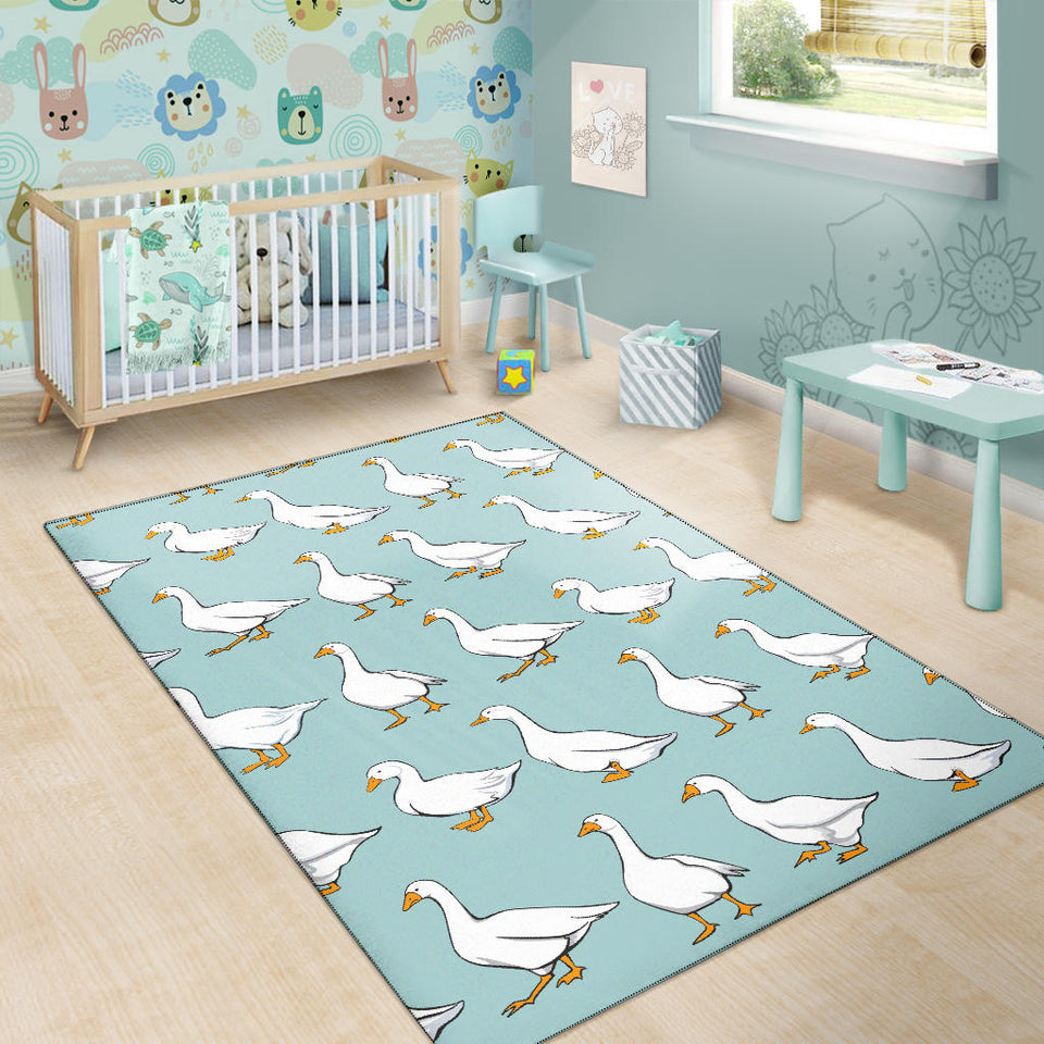 Goose Pattern Print Design 02 Area Rug