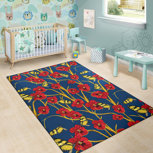 Pansy Pattern Print Design A01 Area Rug