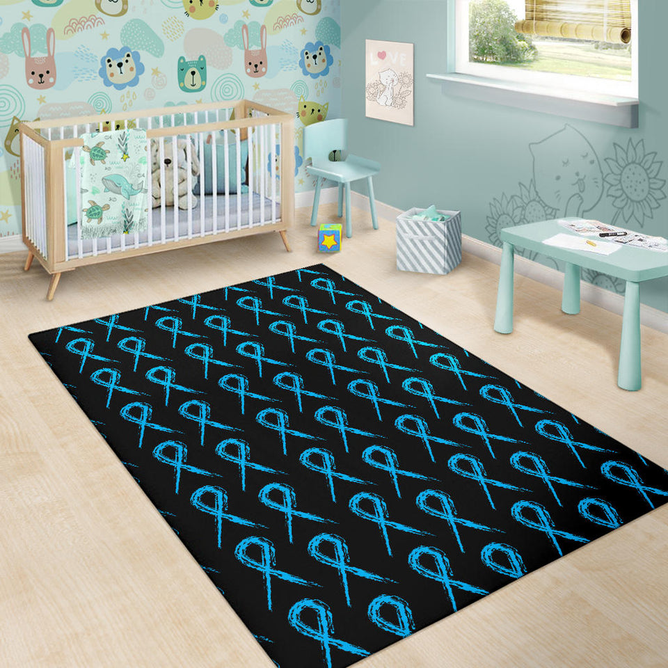 Prostate cancer Pattern Print Design A02 Area Rug