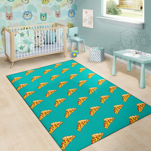 Pizza Pattern Print Design A03 Area Rug