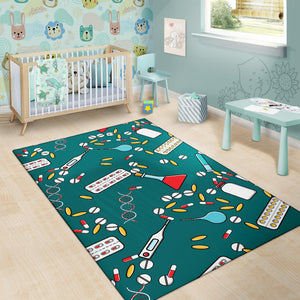 Nurse Pattern Print Design A05 Area Rug