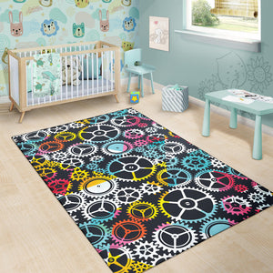 Mechanic Pattern Print Design 02 Area Rug