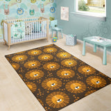 Lion Cartoon Pattern Print Design 01 Area Rug