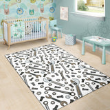 Mechanic Pattern Print Design 03 Area Rug