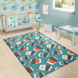 Accordion Pattern Print Design 02 Area Rug