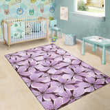 Lilac Pattern Print Design 01 Area Rug