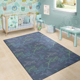 Flying Fish Pattern Print Design 02 Area Rug