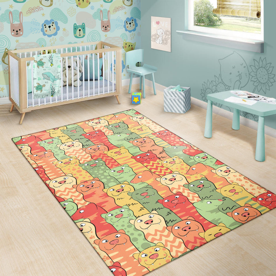 Ferret Pattern Print Design 01 Area Rug