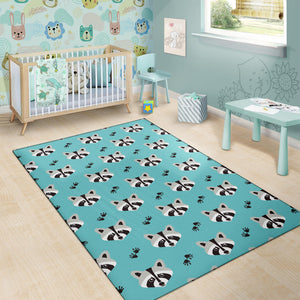 Raccoon Pattern Print Design A01 Area Rug