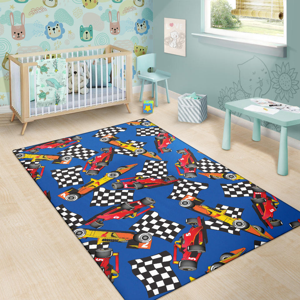 Racing Pattern Print Design A01 Area Rug
