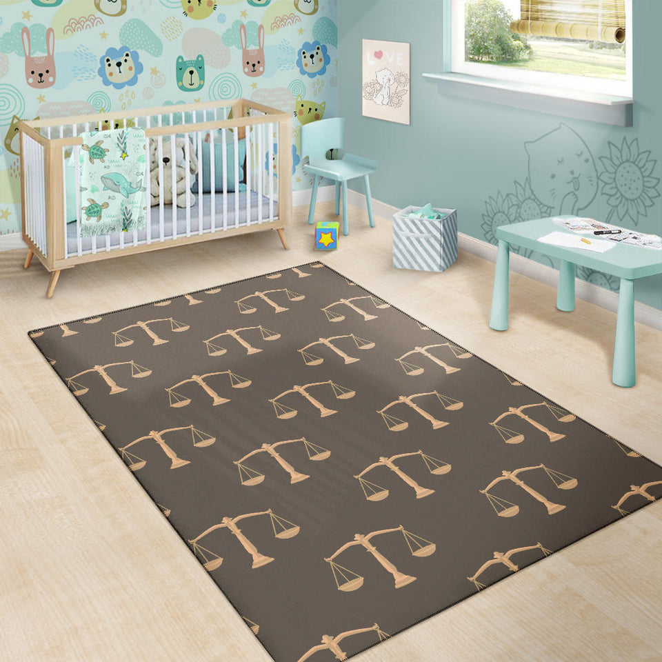 Libra Pattern Print Design 01 Area Rug