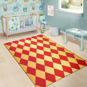 Harlequin Pattern Print Design 03 Area Rug
