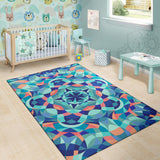 Kaleidoscope Pattern Print Design 03 Area Rug